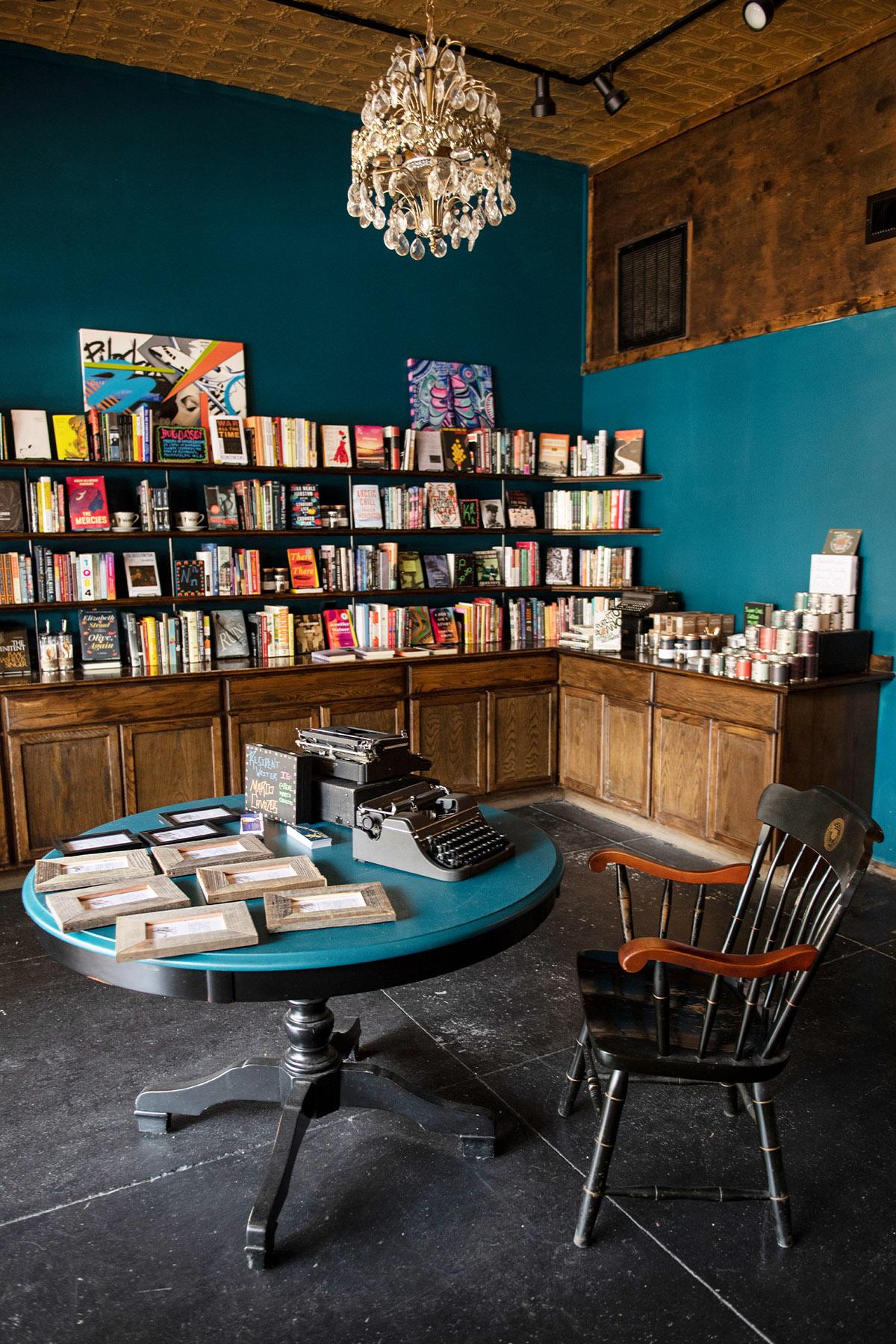 Marco Cavazos' Oak Cliff Poet Book shop and studio