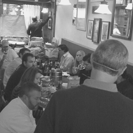 Pre-opening training at Lucia circa 2011.