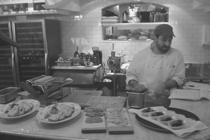 David Uygur showing off his early charcuterie skills.