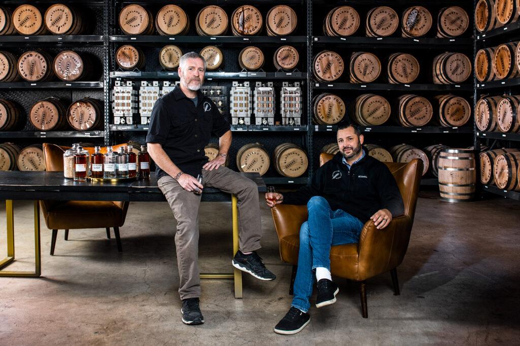 Blackland Distillery Founder Markus Kypreos and head distiller Ezra Cox III