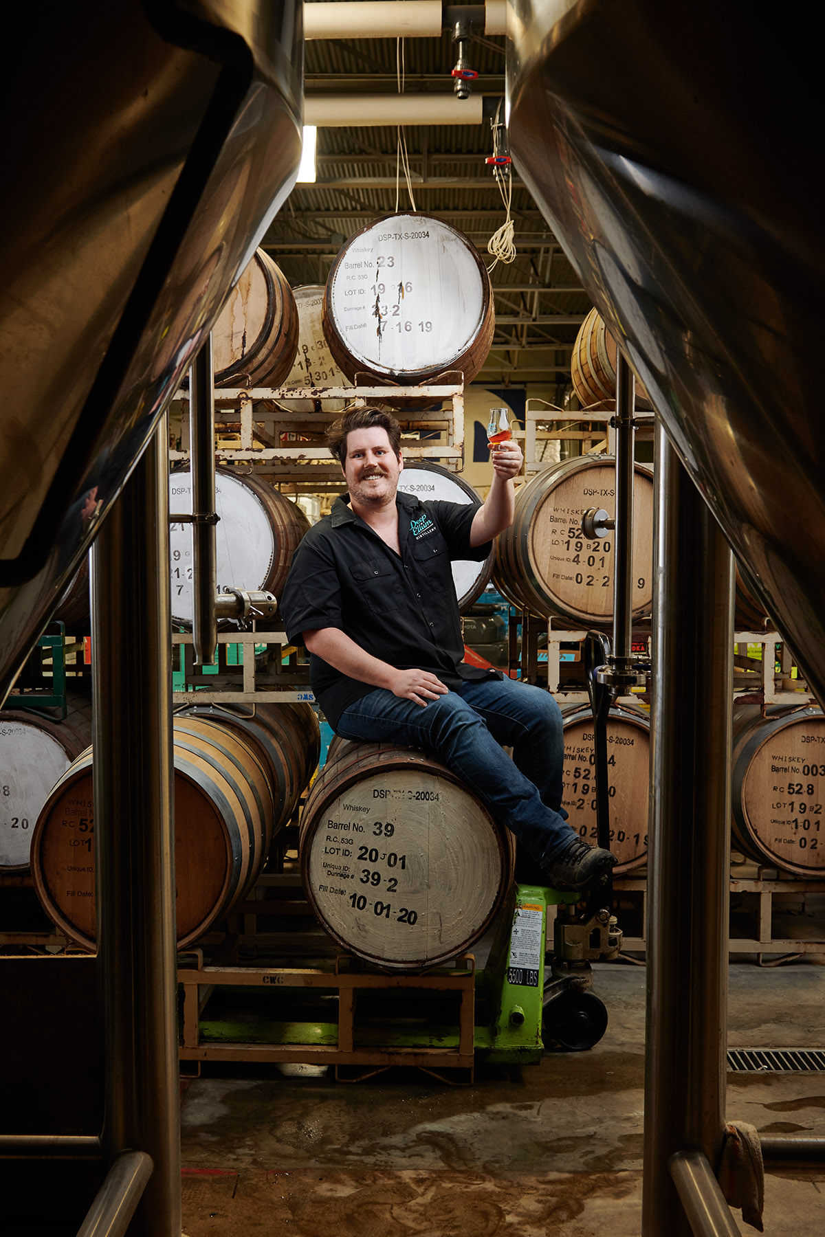 Deep Ellum Distillery's head distiller, Stuart Vance