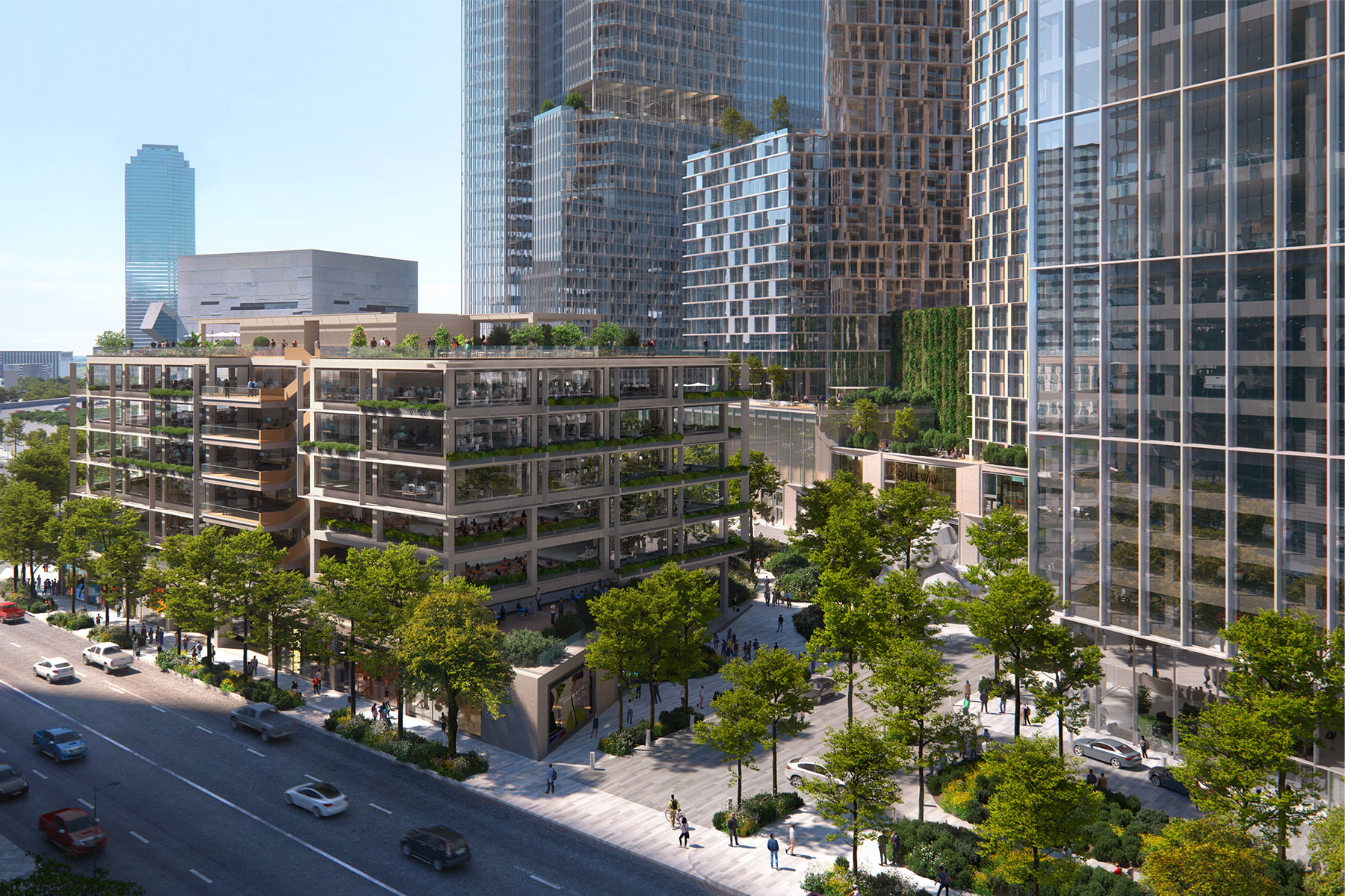 Hunt Realty Mass Timber project on Field Street
