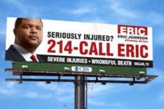 Eric Johnson personal injury lawyer billboard