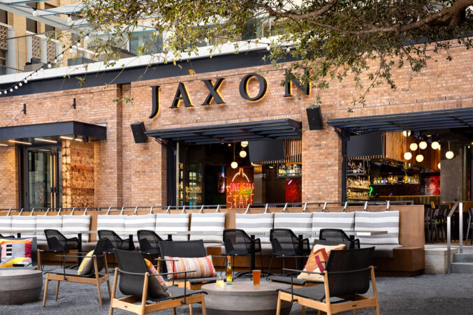 Jaxon Texas Kitchen & Beer Garden patio seating