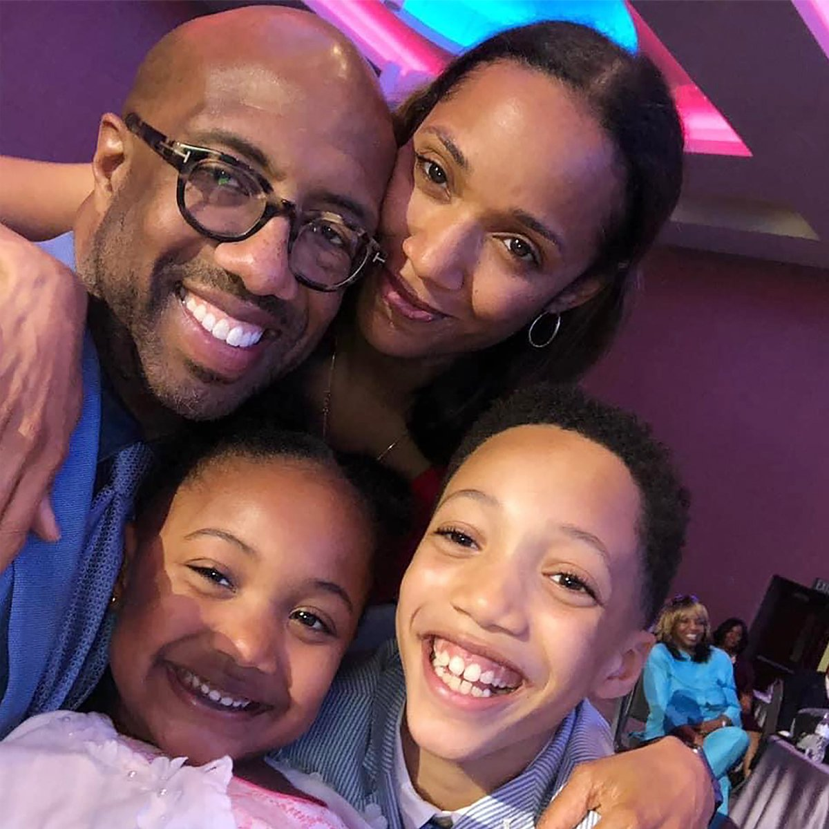Michael Sorrell with his family