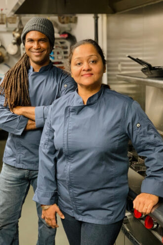 TLC Vegan Kitchen's chef-owner Troy Gardner helped Nidhi Mittal create the fusion flavors in Far East Pizza's pies.