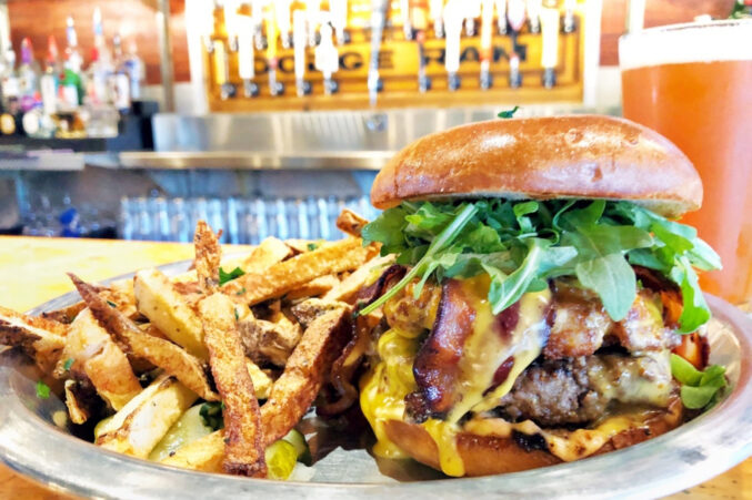 The Dad Bod burger made with 44 Farms beef from Rodeo Goat.