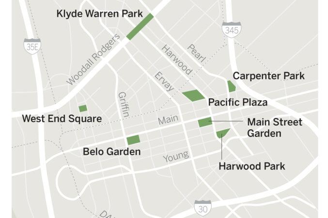 Dallas parks map