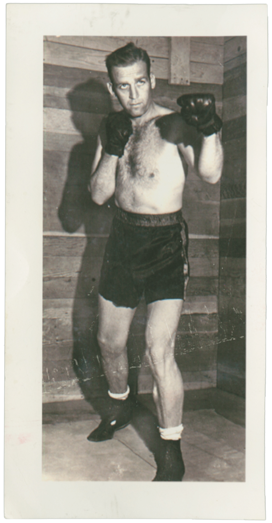Doc Dolan as a light heavyweight boxer in the Army