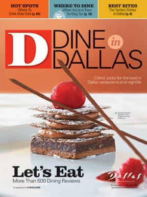 Dine in Dallas 2009 cover