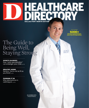 Special Report Dallas Medical Directory 2013 cover